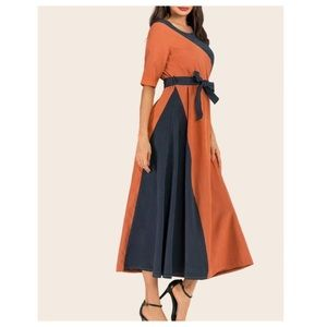Dresses & Skirts - ➕ Contrast Paneling Maxi Dress